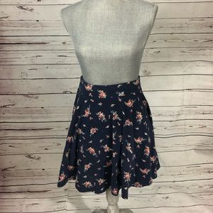 Urban Outfitters Pins & Needles Navy Skater Skirt